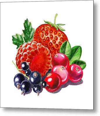 Very Very Berry Metal Print by Irina Sztukowski