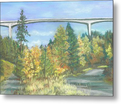 Veterans Memorial Bridge In Coeur D'alene Metal Print