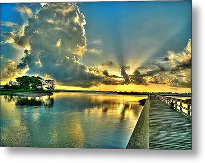 Veterans Pier Sunrise Metal Print