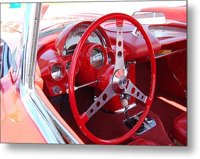 Vette Steering Wheel Metal Print