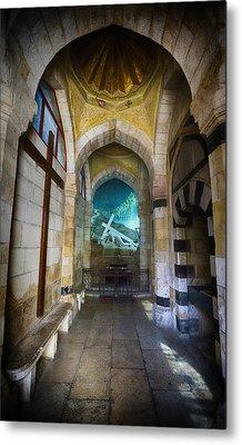 Via Dolorosa Station 3 Chapel - Jerusalem Metal Print by Stephen Stookey