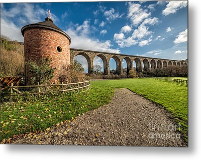 Viaduct Ty Mawr Park Metal Print by Adrian Evans