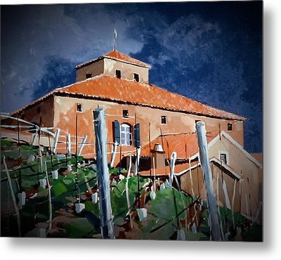 Metal Print featuring the painting Viansa by Andrew Drozdowicz