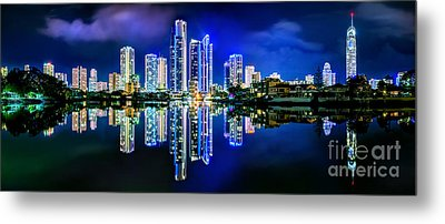Gold Coast Shines Metal Print