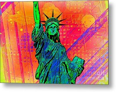 Vibrant Liberty Metal Print by Az Jackson
