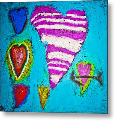 Vibrant Love Metal Print by Sara Frank