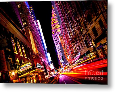 Vibrant New York City Metal Print by Az Jackson