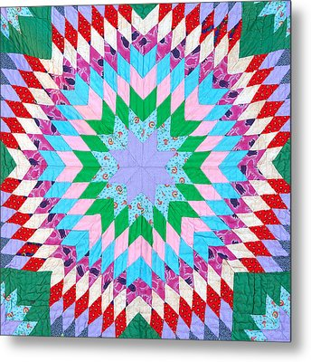 Vibrant Quilt Metal Print by Art Block Collections