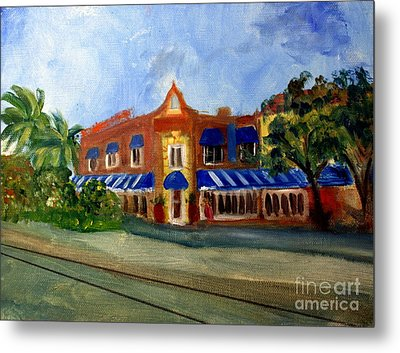 Vic And Angelos In Downtown Delray Beach Metal Print by Donna Walsh