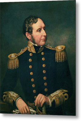 Vice Admiral Robert Fitzroy 1805-65 Admiral Fitzroy Led The Expedition To South America 1834-36 Metal Print