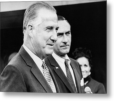 Vice President Spiro Agnew Metal Print by Underwood Archives