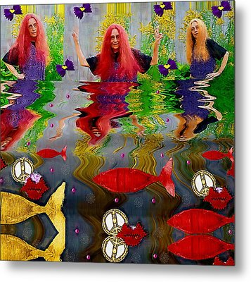 Vice Versa Pop Art Metal Print