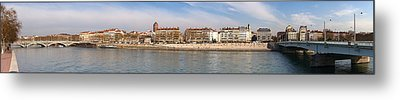 Victor Augagneur Bridge Over The Rhone Metal Print by Panoramic Images