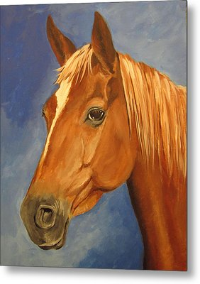 Metal Print featuring the painting Victor by Carol Hart