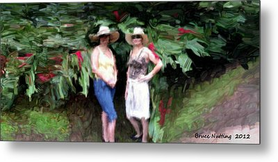 Metal Print featuring the painting Victoria And Friend by Bruce Nutting
