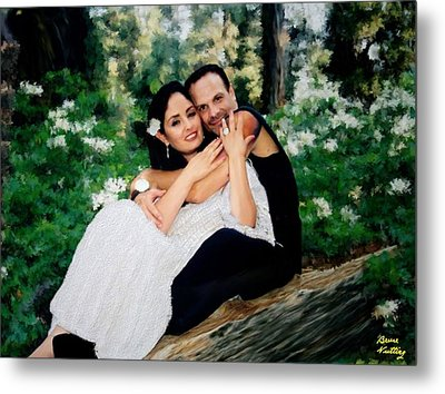 Victoria And Her Man Of God Metal Print