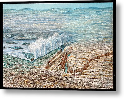Victoria Falls Metal Print by Gustoimages/science Photo Libbrary