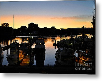 Metal Print featuring the digital art Victoria Harbor Sunset 3 by Kirt Tisdale