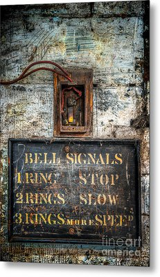 Victorian Bell Sign Metal Print by Adrian Evans