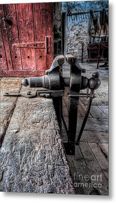 Victorian Bench Vice Metal Print by Adrian Evans