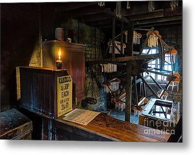 Victorian Candle Factory Metal Print by Adrian Evans
