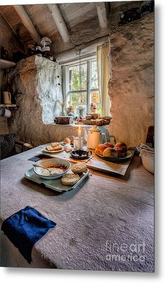 Victorian Cottage Breakfast Metal Print by Adrian Evans