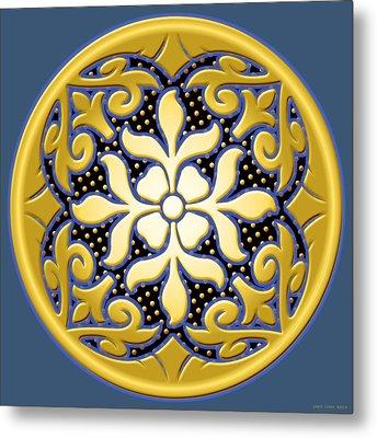 Victorian Door Knob Design Metal Print by Greg Joens