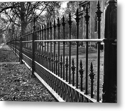 Victorian Fence Metal Print by Jane Linders