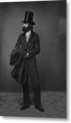 Victorian Gentleman William Sidney Mount C. 1853 Metal Print by Daniel Hagerman