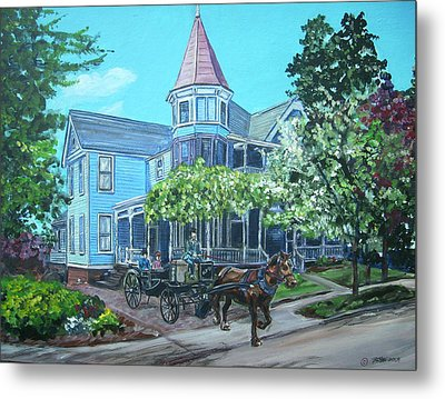 Metal Print featuring the painting Victorian Greenville by Bryan Bustard