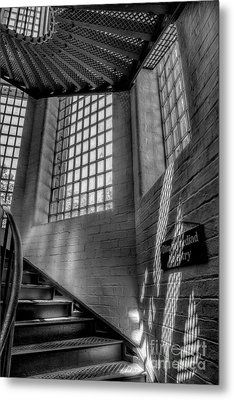 Victorian Jail Staircase V2 Metal Print by Adrian Evans