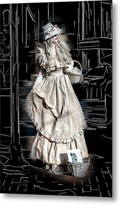 Victorian Lady Metal Print by John Haldane