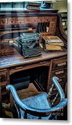 Victorian Office Metal Print