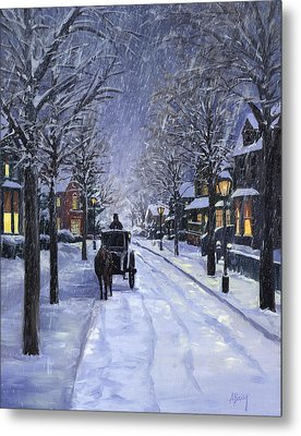 Metal Print featuring the painting Victorian Snow by Alecia Underhill