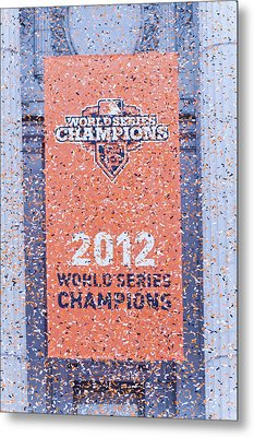 Victory Parade Banner For The San Francisco Giants As The 2012 World Series Champions Metal Print
