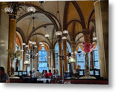 Vienna Central Cafe Metal Print by Viacheslav Savitskiy