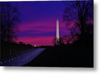 Vietnam Memorial Sunrise Metal Print