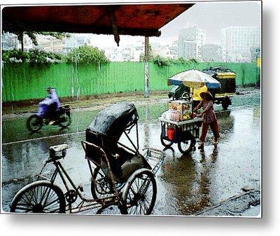 Vietnam Rainy Saigon Metal Print