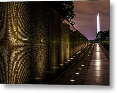 Vietnam Veterans Memorial Metal Print