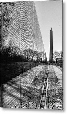 Metal Print featuring the photograph Vietnam War Memorial Washington Dc by John S