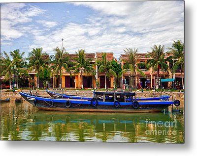 Vietnamese Unesco City Of Hoi An Vietnam Metal Print by Fototrav Print