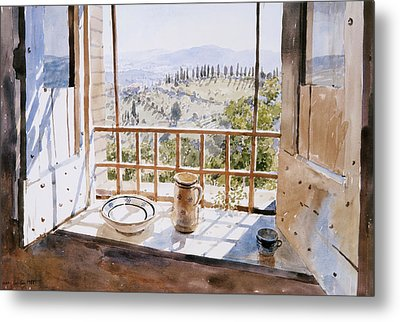 View From A Window Metal Print by Lucy Willis