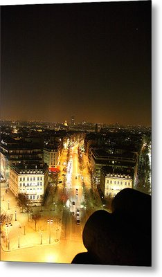 View From Arc De Triomphe - Paris France - 011310 Metal Print by DC Photographer