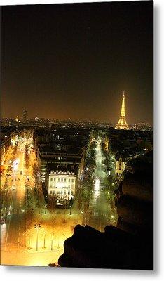 View From Arc De Triomphe - Paris France - 011311 Metal Print
