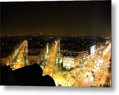 View From Arc De Triomphe - Paris France - 011316 Metal Print by DC Photographer