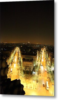 View From Arc De Triomphe - Paris France - 01132 Metal Print by DC Photographer