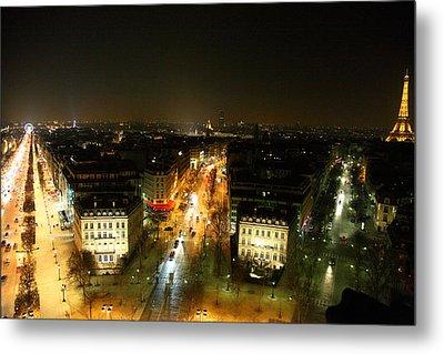 View From Arc De Triomphe - Paris France - 011320 Metal Print by DC Photographer
