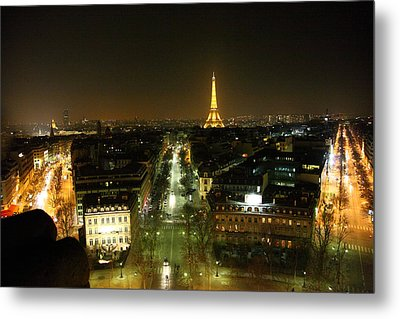 View From Arc De Triomphe - Paris France - 011323 Metal Print by DC Photographer