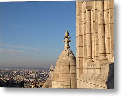View From Basilica Of The Sacred Heart Of Paris - Sacre Coeur - Paris France - 01131 Metal Print by DC Photographer