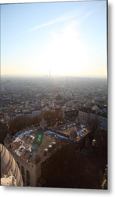 View From Basilica Of The Sacred Heart Of Paris - Sacre Coeur - Paris France - 011312 Metal Print